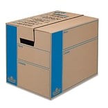 BANKERS BOX SmoothMove Moving Box, Extra Strength, Small, 12w x 16d x 12h, Kraft, FastFold