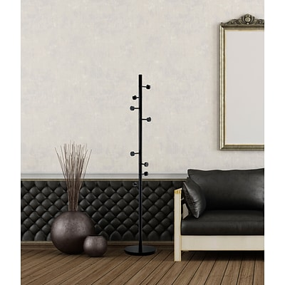 Adesso® WK2030-01 Swizzle Coat Rack, Black