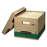 Bankers Box® FastFold™ Stor/File™ Storage Boxes, Medium-Duty, 100% Recycled, Letter/Legal, 12/Carton
