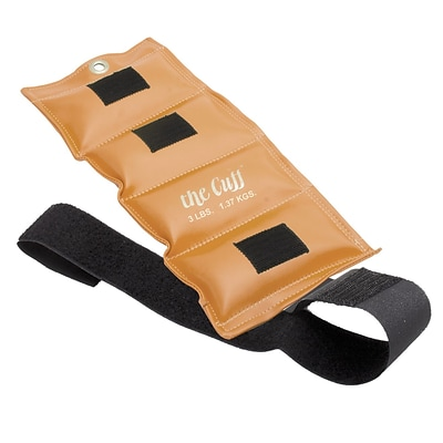 The Deluxe Cuff® Ankle and Wrist Weight; 3 lb, Gold