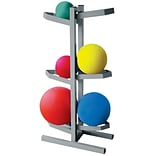 CanDo® Plyometric Ball Rack; Two-Sided, Holds 6 Balls, 20W x 12D x 32H