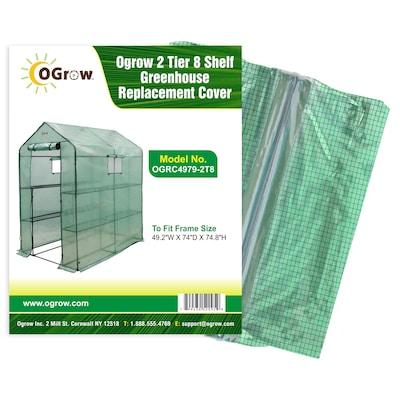 OGrow 2 Tier 8 Shelf Greenhouse PE