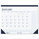 HOUSE OF DOOLITTLE Monthly Desk Pad Calendar w/ Large Notes Section