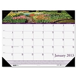 HOUSE OF DOOLITTLE Gardens Calendar Desk Pad; 22 W  x 17 D