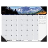 HOUSE OF DOOLITTLE Mountains Desk Pad Calendar; 22 W x 17 D