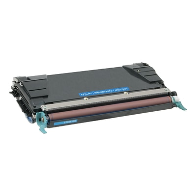 Quill Brand Remanufactured LEX C5222CS C5242CH C5202CS C5220CS Laser Cyan Toner Cartridge (100% Satisfaction Guaranteed)
