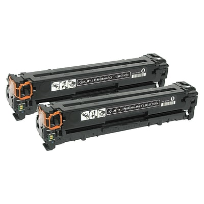 Quill Brand Remanufactured HP 125A Black Standard Laser Toner Cartridge 2/Pack (CB540AD) (100% Satisfaction Guaranteed)