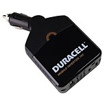 Battery Biz® Duracell® 150 W Mobile Power Inverter, Black (DRINVM150)