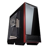 In Win 503 Mid-Tower Computer Case, Black/Red (503BLACK)