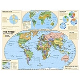 National Geographic Maps Kids Beginners World Wall Map (Grades K-3)