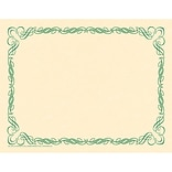 Arabesque Border Paper, Green
