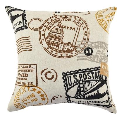 Vesper Lane Travel Typography Linen Throw Pillow;