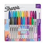 Sharpie Electro Pop Markers; Assorted, Fine Point, 24/Pk