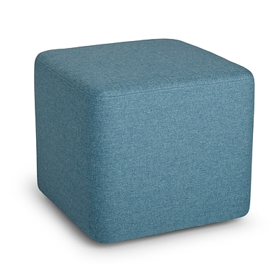 Poppin, Blue, Block Party Ottoman (101910)