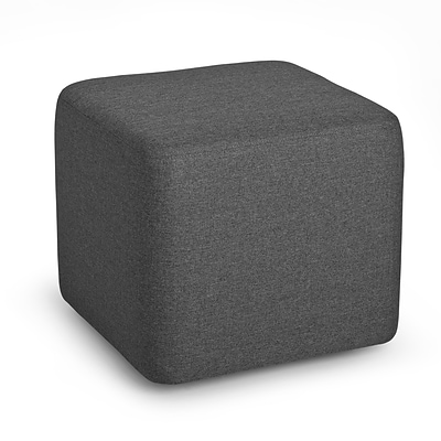 Poppin, Dark Grey, Block Party Ottoman (101909)