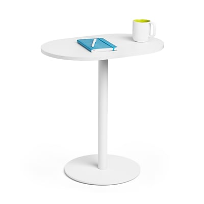 Poppin, Tucker Tall Side Table , 25, White (102045)