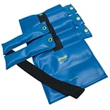 Pouch® Variable Wrist and Ankle Weight; 20 lb, 5 x 4 lb inserts - Blue