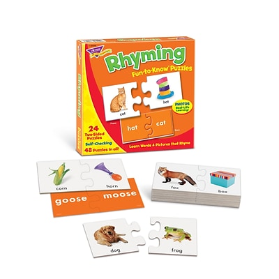 Trend® Fun-To-Know® Early Childhood Puzzles, Rhyming