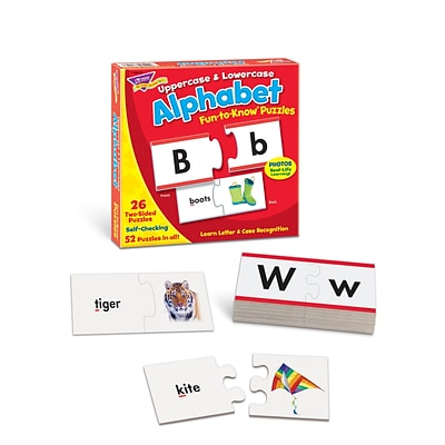 Trend® Fun-To-Know® Early Childhood Puzzles, Alphabet, 2-Sided