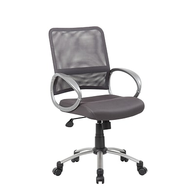 Boss Mesh Back with Pewter Finish Guest Chair (B6419-CG)