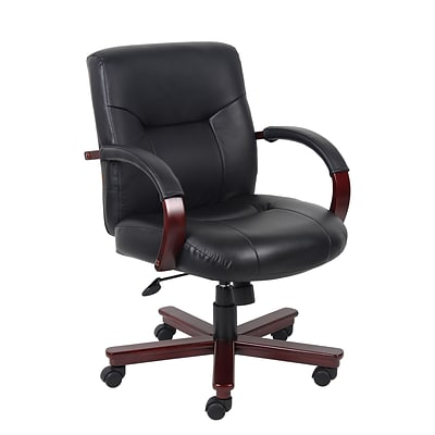 Boss® B8906 Series Leather Executive Mid-Back Chair