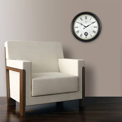 FirsTime 25605 Adair Wall Clock, White Face