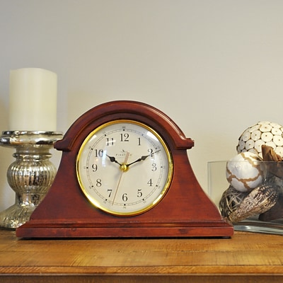 FirsTime® Brownstone Napoleon Tabletop Clock, Walnut