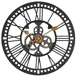 First Time® 24 Oversized Roman Gear Wall Clock