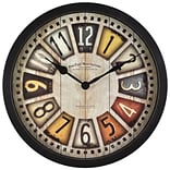 First Time® 14 License Plates Wall Clock