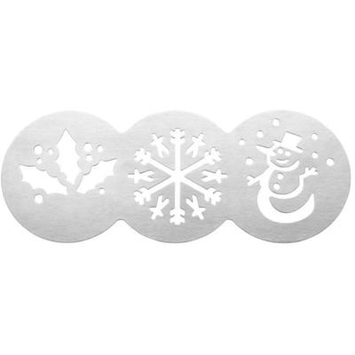 Tala 3 Piece Stainless Steel Cake Stencil Set