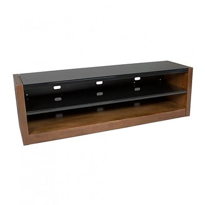 Kanto 70 TV Stand with Tempered Glass Shelves, Walnut (MESA64WAL)