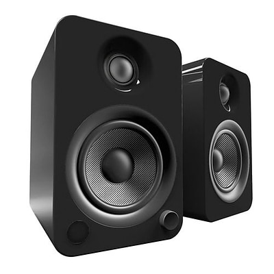 Kanto YU4 2Way Powered Speakers with Bluetooth and Phono Preamp, Gloss Black