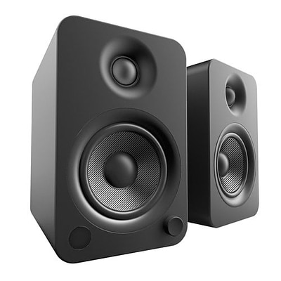 Kanto YU4 2Way Powered Speakers with Bluetooth and Phono Preamp, Matte Black