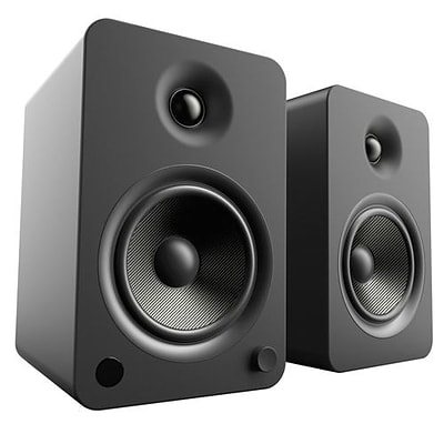 Kanto YU6 2Way Powered Speakers with Bluetooth and Phono Preamp, Matte Black