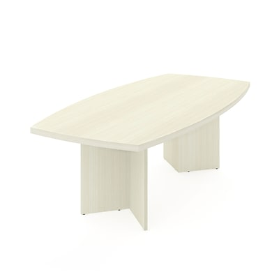 BESTAR boat shaped conference table with 1 3/4 melamine top in White Chocolate