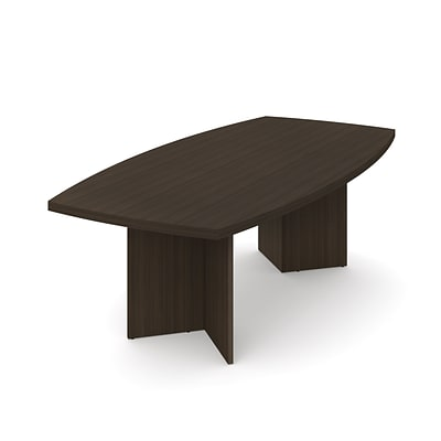 BESTAR boat shaped conference table with 1 3/4 melamine top in Dark Chocolate