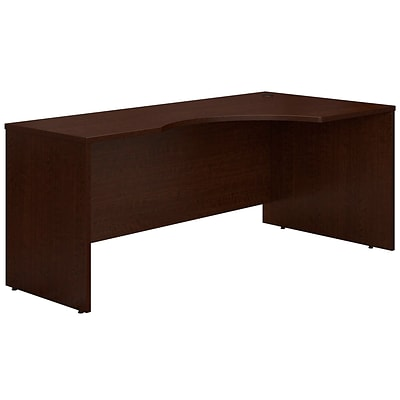 Bush Business Furniture Westfield 72W Right Handed Corner Desk, Mocha Cherry, Installed (WC12923FA)