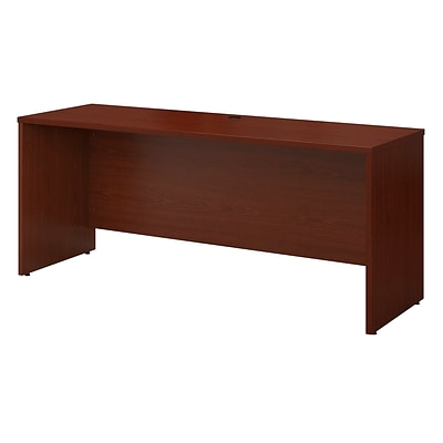 Bush Business Westfield 72W x 30D Desk/Credenza/Return, Cherry Mahogany, Installed