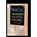 Flipside Products Natural Hardwood Marquee Double Sided Board Easel