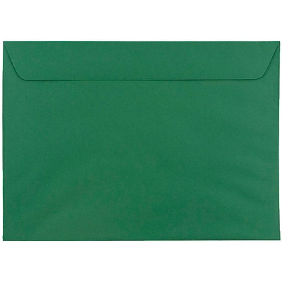 JAM Paper® 9 x 12 Booklet Envelopes, Dark Green, 1000/carton (263915982c)