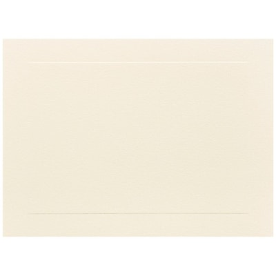 JAM Paper® Blank Note Cards, A6 size, 4 5/8 x 6 1/4, Ivory Panel, 50/pack (175995i)