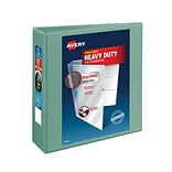 Avery® Heavy-Duty View Binders with One Touch™ EZD® Ring; 3, Sea Green