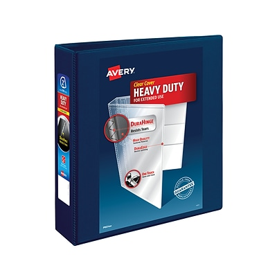 Avery® Heavy-Duty View Binder with 2 One Touch EZD™ Rings, Navy Blue