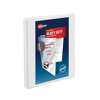 Avery® Heavy-Duty Nonstick View Binder with 1/2 Slant Rings, White