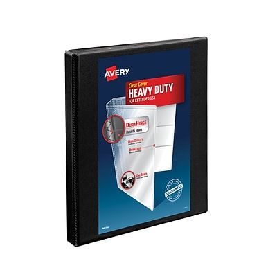 Avery® Heavy-Duty Nonstick View Binder with 1/2 Slant Rings, Black