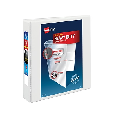 Avery® Heavy-Duty Nonstick View Binder with 1-1/2 Slant Rings, White