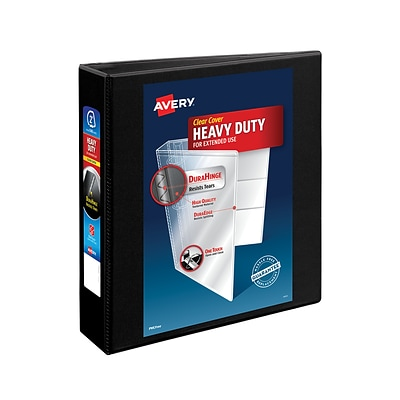 Avery® Heavy-Duty Nonstick View Binder with 2 Slant Rings, Black