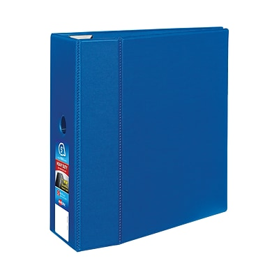 Avery® Heavy-Duty One Touch EZD™ 5 D-Ring Binder, Non-View, Blue, 3-Ring