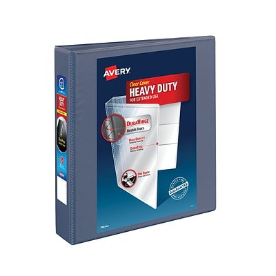 Avery® Heavy-Duty View Binder with One Touch™ EZD® Rings, 1-1/2, Purple