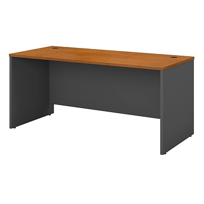 Bush Business Westfield 60W Credenza Shell, Natural Cherry/Graphite Gray, Installed